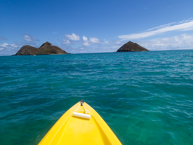 Kayaking to the Mokulua Islands