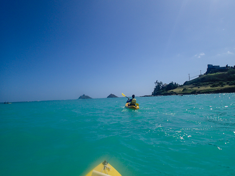 kayaking to the Mokulua Islands