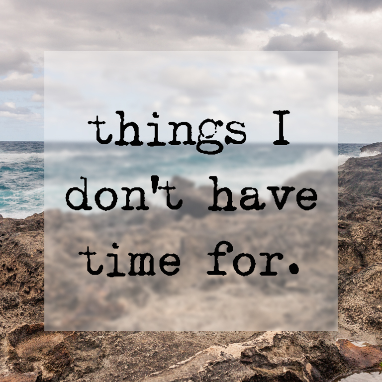 things i don't have time for (1 of 1)